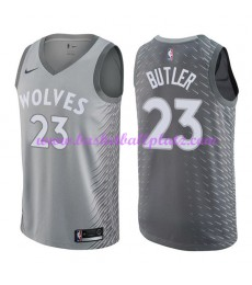 Minnesota Timberwolves Trikot Herren 2018-19 Jimmy Butler 23# City Edition Basketball Trikots NBA Sw..
